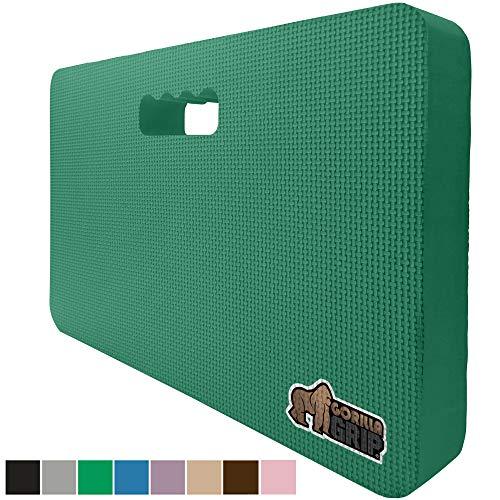 Gorilla Grip Original Premium Thick Kneeling Pad, Comfortable Foam Mat to Kneel On, Knee Pad Cushion for Gardening, Yard Work, Yoga, and Bath Room Floor for Baby Bath, 17.5 x 11 Inch x 1.5 Inch, Green