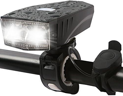 Luces de bicicleta USB Batería – 2 LED bicicleta luz 350 lm foco ...