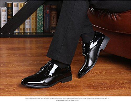 Uomo Scarpe Classiche Eleganti in Uomo Nero Stringate Basse Pelle Scarpe qxtT7U