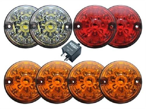 LAND ROVER DEFENDER LED UPGRADE LAMPS KIT (73 mm LED style light) PART: DA1192