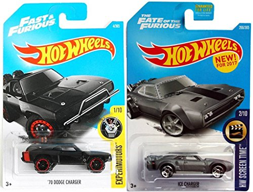Toyota Van Models - Hot Wheels Fast Furious Charger Set 2017 '70 Dodge Charger Experimotors #4 + 2017 #266 HW Screen Time Ice Charger The Fate of the Furious