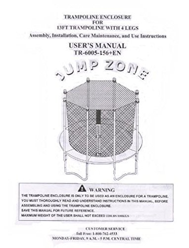 Trampoline Enclosure mesh Net ONLY for 13' Sportspower Model TR-6005-ENC - OEM Equipment by Jump Zone