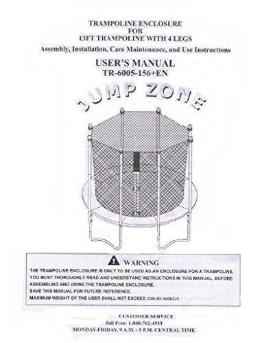 Trampoline Enclosure mesh Net ONLY for 13' Sportspower Model TR-6005-ENC - OEM Equipment