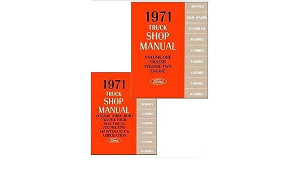 1971 Ford Truck Truck Shop Manual Set 71 Bronco Van Pickup F100 F250 F350 Van