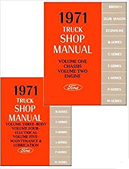 1971 ford truck factory repair shop service manual set includes rh amazon com 1974 Ford F100 1971 ford f100 shop manual