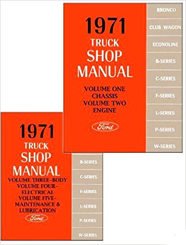Pickup Brake F100 Ford (1971 FORD TRUCK FACTORY REPAIR SHOP & SERVICE MANUAL SET Includes F100, F250, F350 Pickup, Bronco, Econoline, Van, Wagon, C & CT Series, L-Series, W-Series, P-Series)