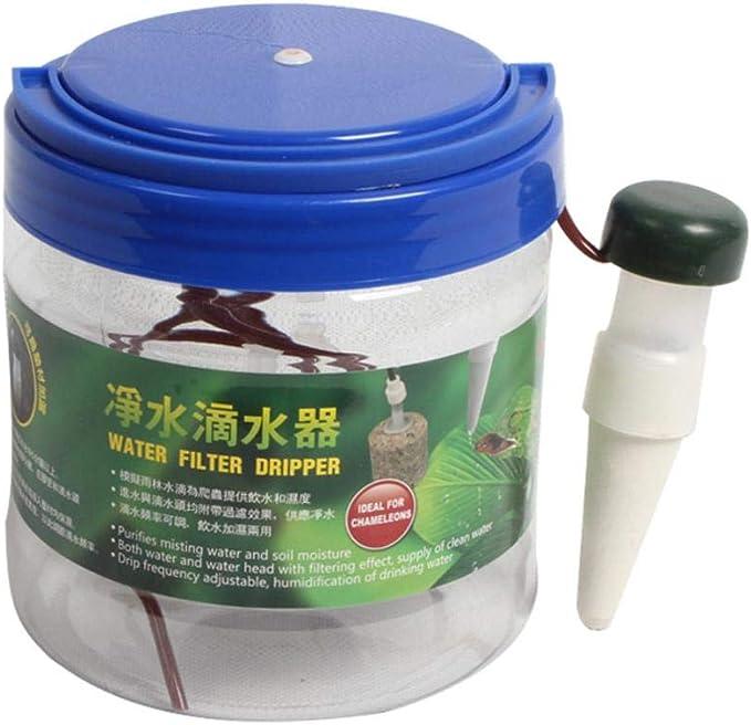remote.S Dispensador De Mascotas 1300ML Bebedero Automático para Reptiles Cilindro De Gas Selva Anfibios Humidificador