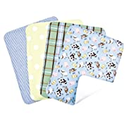 Trend Lab Set of 4 Burp Cloth, Baby Barnyard
