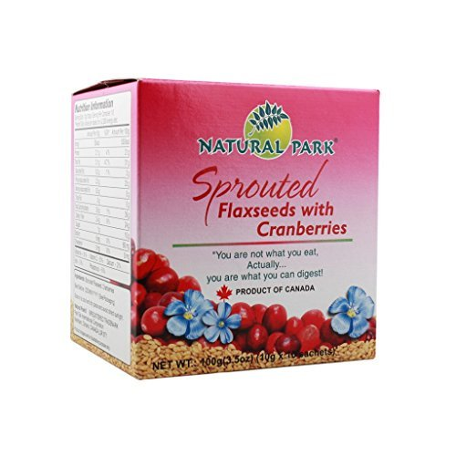 Natural Park 1 Sprouted Flaxseed With Cranberries, 100G by Natural Park