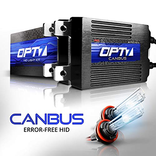 OPT7 Boltzen AC CANbus H11 H8 H9 HID Kit - 5X Brighter - 6X Longer Life - All Bulb Sizes and Colors - 2 Yr Warranty [8000K Ice Blue Xenon Light]