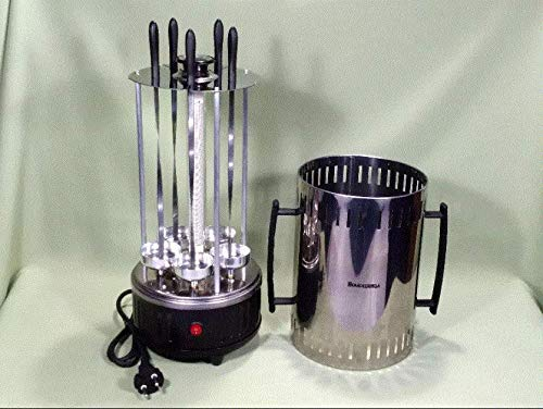 Assistant Rotary Electric Shish Kebab Maker for 5/6/8 skewers@Choice Stainless Steel 220V EU (5 skewers)