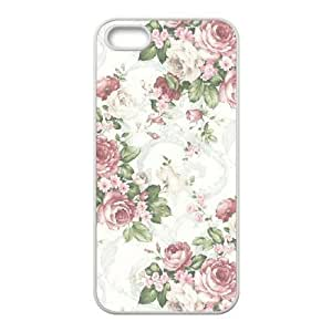 Cool Painting Retro Floral Series Unique Fashion Printing Phone Case for Iphone 5,5S,personalized cover case case598566