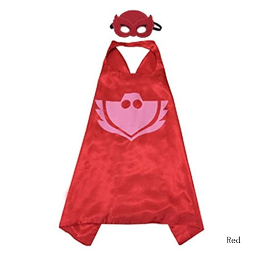 Bearfire New Superhero PJ Masks Cape/Mask Set Gekko Owlette Catboy Kids Costume Party (