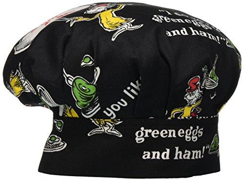 ASD Living 55-173 Dr. Seuss Green Eggs & Ham Adult Chef's Hat, Black, - Ham Cat