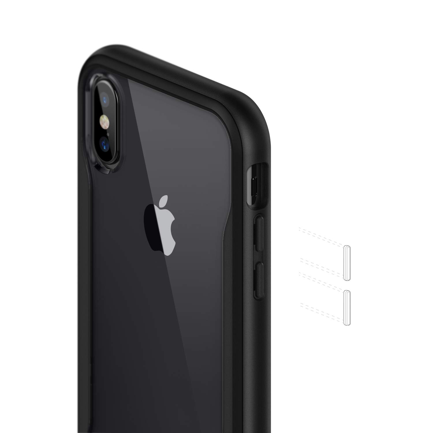 2018 // iPhone X Case 2017 - Slim /& Transparent White Gray Caseology Coastline for iPhone Xs Case
