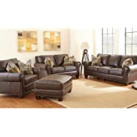 Steve Silver Company Escher Sofa with 2 Accent Pillows, 91 x 41 x 38