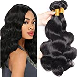 100% Unprocessed Virgin Brazilian Hair Body Wave 3 Bundles Remy Human Hair Weaves Hair Extensions Wefts Natural Color Grade 8A (24 26 28 Inch) For Sale