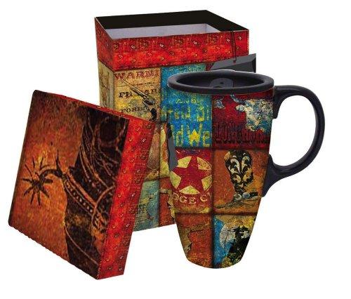 Boxed Ceramic Latte Travel Mug 17oz - Western Way of Life