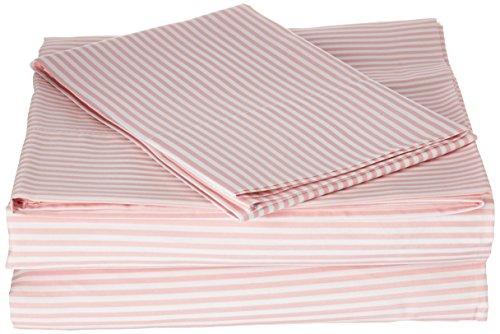 Twin Set Stripe - Laura Hart Kids Printed Stripe Sheet Set, Twin X-Large, Pink