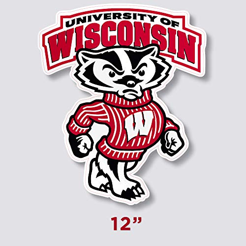 Edwin Group of Companies Wisconsin Badgers Vinyl Sticker Decal 5 SIZES Cornhole TruckCar Wall (10