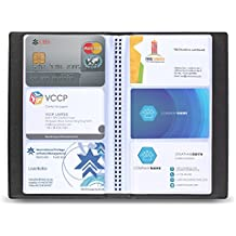 300 Cells PU Leather Business Name Card Holder, ID Card Credit Card Case Book, Business Card Organizer