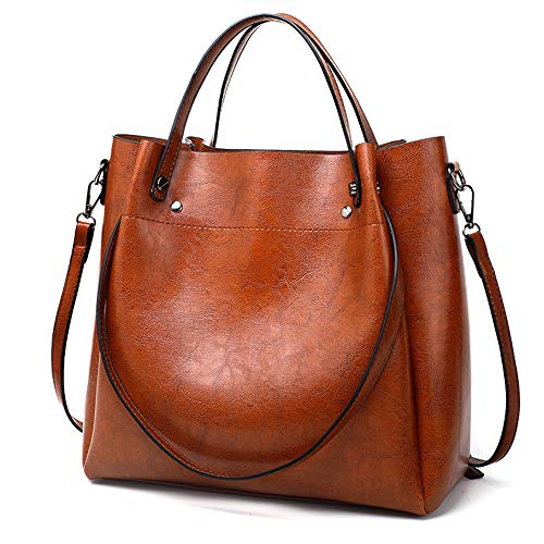 Cawmixy Hobo Women Satchel Soft Shoulder Bags Classic Tote Ladies Purses Designer Woman Bags (New Brown)