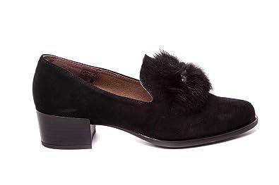 Mocasines Negros con Perla Ante Piel - Nature Shoes - 4025: Amazon.es: Zapatos y complementos