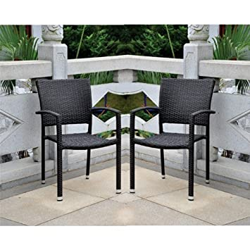 international caravan resin wicker aluminum patio dining chair set chairs swivel millstone 6 piece with bare cushions outdoor clearance
