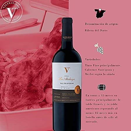 Caja Vino Valtravieso Ribera del Duero | Nogara Verdejo 100% Rueda + VT Crianza Tinto Fino + Vino Reserva la Atalaya Tinto Fino 80%, Cabernet Sauvignon 10% y Merlot 10% - Pack Regalo 3 Botellasx750 ml