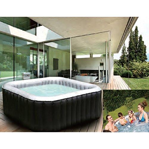 Whirlpool Jacuzzi In-Outdoor Pool Bubble Spa Wellness Massage Heizung aufblasbar 158x158cm 4 Personen