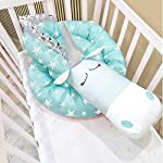i-baby-Crib-Bumper-Pads-Baby-Bumper-Baby-Protector-Newborn-Pillow-3D-Cartoon-Animal-Head-Guard-Bumper-Nursery-Bedding-Aqua-Unicorn
