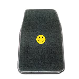 Premier Smoke Universal Fit Front Two Piece Floormat with SMILEY FACE Logo