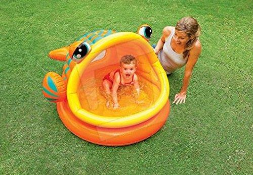 Piscina Hinchable para Niños pescado pelota Intex cm. 124 X 109 ...