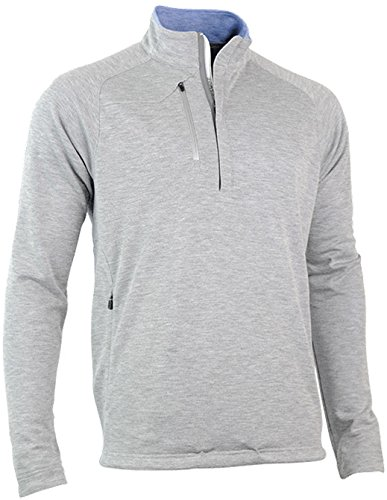 Zero Restriction Lightweight Pullover - Zero Restriction Men's Z525 Quarter Zip Pullover Jacket, Storm Heather, Medium