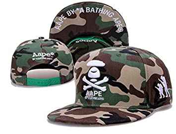 AAPE Snapback Cap Hat One Size Adjustable Fitted Hats  Amazon.co.uk ... 3a82db74b07