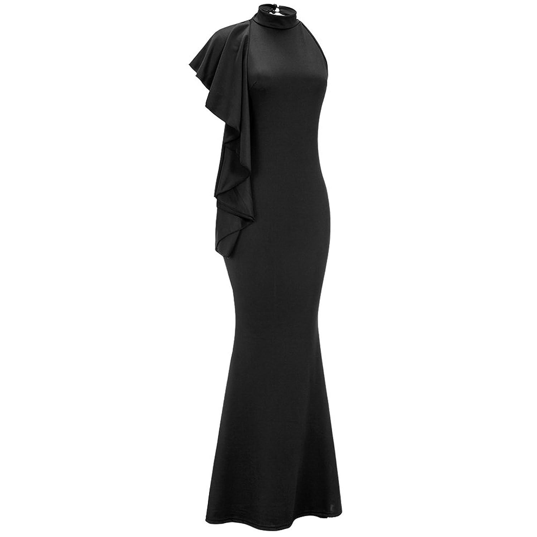 Amazon Bodycon4u Womens One Shoulder Ruffled Mermaid Long Maxi