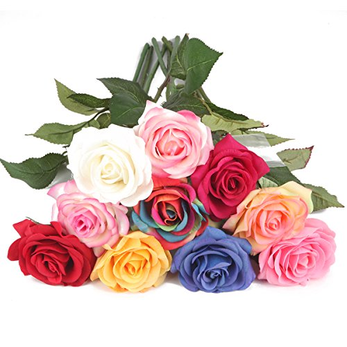 Silk Rose 17″ Artificial Flowers As Natural -Louis Garden