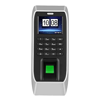 Máquina de Asistencia de Huellas Dactilares de 2,4 Pulgadas, TFT LCD Máquina de Asistencia de contraseña Registro de empleados Registrador de Entrada ...