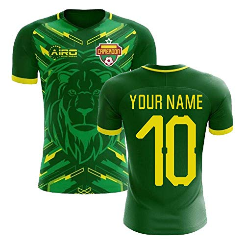 (Airosportswear 2018-2019 Cameroon Home Concept Football Soccer T-Shirt Jersey (Your Name) -Kids)