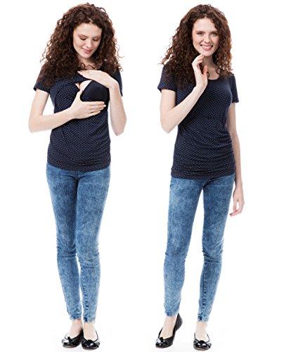 GoFuture maternity clothes shirt woman Maternity wear 3in1 CARA KS2002 (Marine , Size 12 UK)