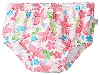 i play. Baby Girls'  Mix n Match Ultimate Ruffle Snap Swim Diaper, White, Medium/6   12 Months