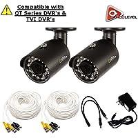 Q-See 4MP HD Bullet Camera 2-Pack: 2688x1520, 3.6mm Lens, 36 IR LEDs, IR up to 100ft, AGC, IP66 - QTH8071B