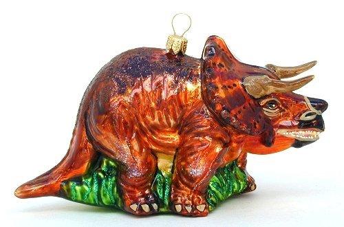 Amazon.com: Triceratops Dinosaur Polish Blown Glass Ornament: Home ...