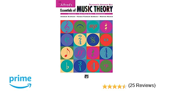 Alfred's Essentials of Music Theory: Teacher's Answer Key: Andrew ...