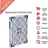 16x20x1 MERV 11 ( MPR 1000 ) Pleated AC Furnace Air Filter - 4 Pack