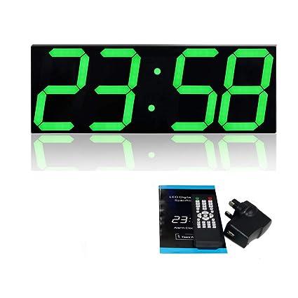 T Tocas LED Reloj Temperatura Despertador Pantalla fecha Montaje en la pared Reloj de estudio Reloj