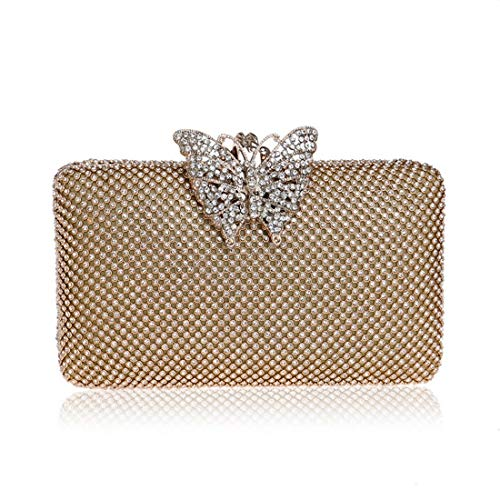 Bag Dress Diamonds American Gold evening Ladies Color Ladies European Gold Dinner And Evening Bag Fly bag awq4Y4