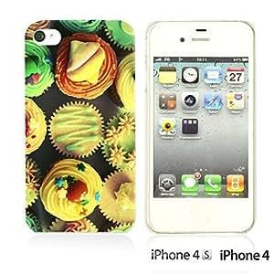 OnlineBestDigitalTM - Funny Pattern Hardback Case for Apple iPhone 4S / Apple iPhone 4 - Cup Cake