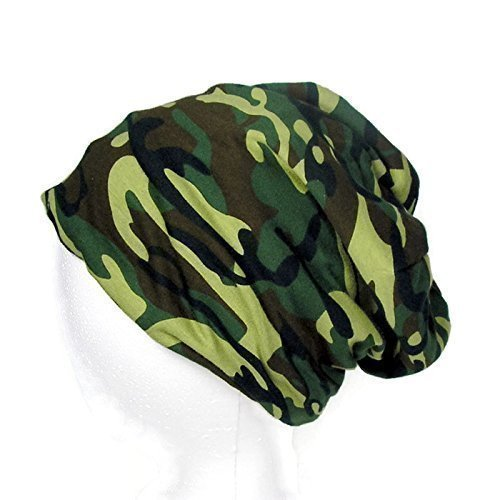 6ecc20203f3 100% Cotton Jersey Knit Green Camouflage Slouchy Hat Lined Green Camo  Slouch Hat Reversible Camouflage Unisex Beanie Mens Camo Hats Mens Camo  Skullcaps ...