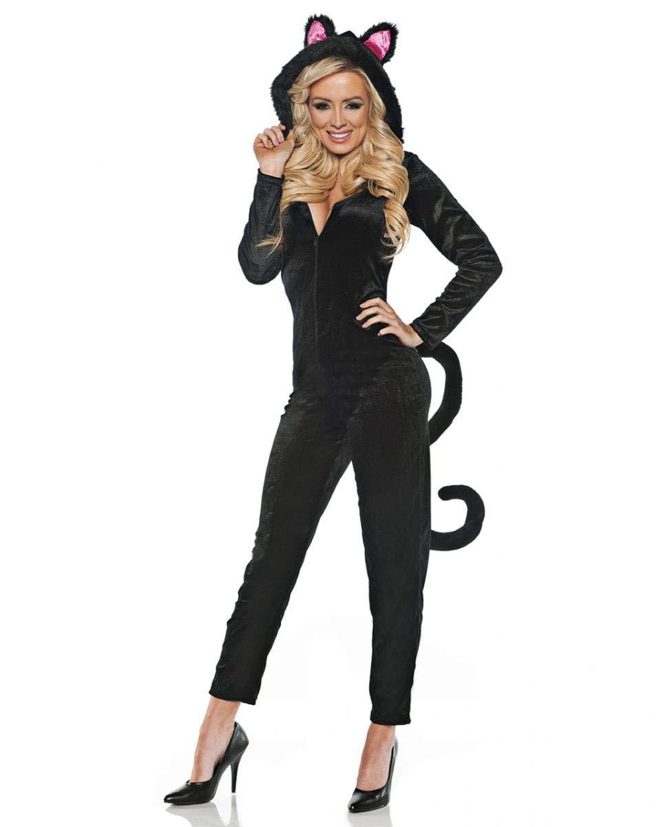 Horror-Shop Costume da Gatto Nero con Tuta L